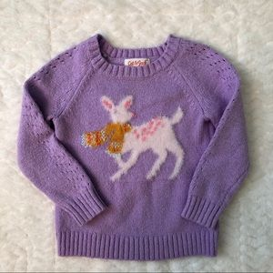 Cat & Jack Purple Fuzzy Deer Sweater